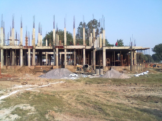 Nov 13 Columns raised for first floor