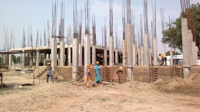 Raising columns for Academic Block